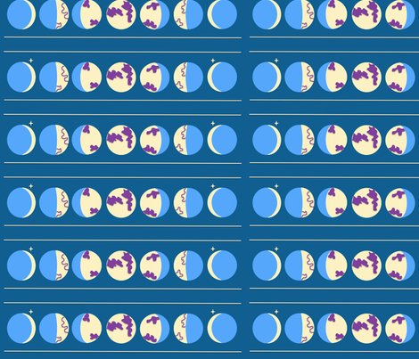Moon_Cycle_2 fabric by lus_na_gr©ine on Spoonflower - custom fabric