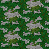 White Rabbit Mosaic