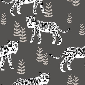 Safari Tiger - Charocal/White by Andrea Lauren