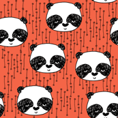 Panda - Coral/Black/White by Andrea Lauren