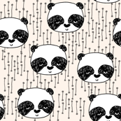 Panda - Champagne/Black/White by Andrea Lauren
