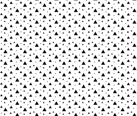 Small Black and White Triangles fabric by sierra_gallagher on Spoonflower - custom fabric