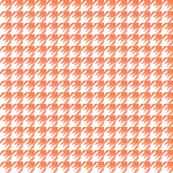 Sketchy houndstooth orange