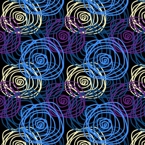 Bed of Roses - Blue Swirl