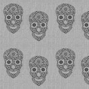 burlap skulls
