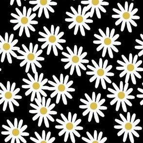Daisies - Black/White/Mustard by Andrea Lauren