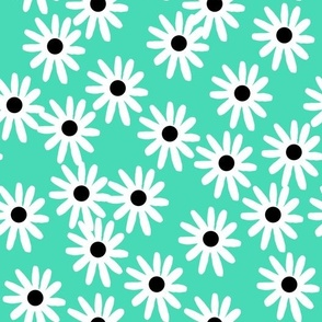 daisies // green light jade tropical green flowers plants summer