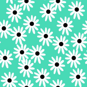 Daisies - Light Jade/Black/White by Andrea Lauren