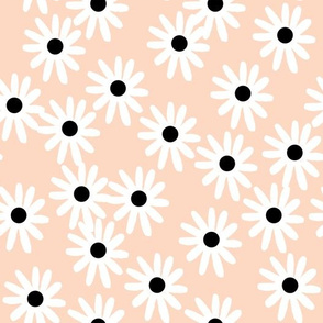 Daisies - Blush/White/Black by Andrea Lauren