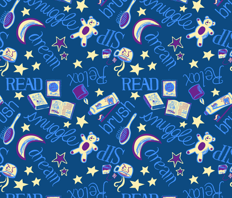 Sweet Dreams fabric by little_postcards on Spoonflower - custom fabric