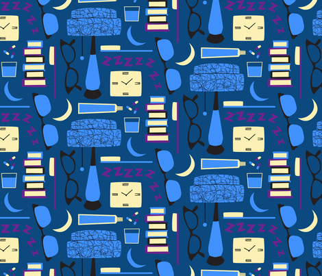 Mid Night Mod fabric by rightbrainjane on Spoonflower - custom fabric
