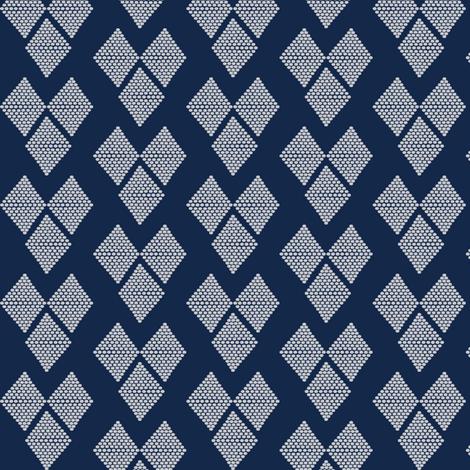 Western Hearts Navy Blue fabric by natitys on Spoonflower - custom fabric