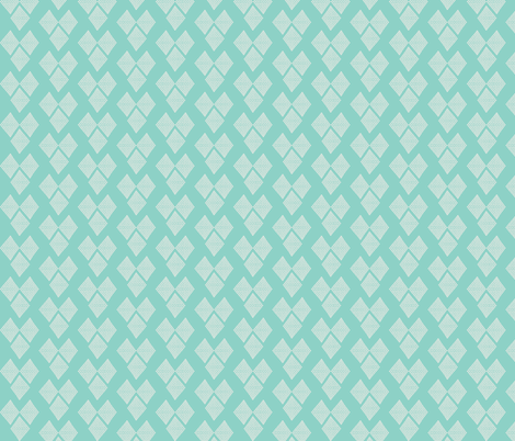 Diamond Hearts Aqua fabric by natitys on Spoonflower - custom fabric