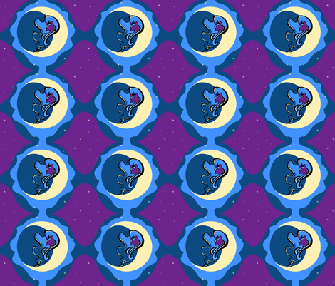 Goodnight Moon, Hello Luna fabric by kittypryde333 on Spoonflower - custom fabric