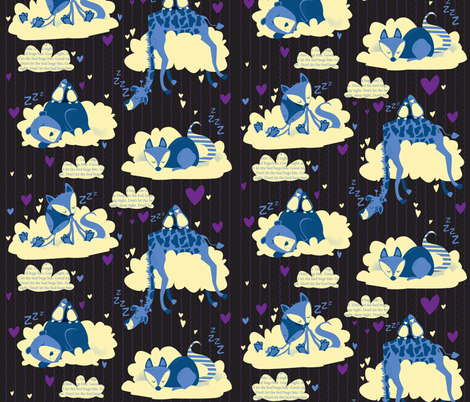 In the cloudzzzzz fabric by mulberry_tree on Spoonflower - custom fabric