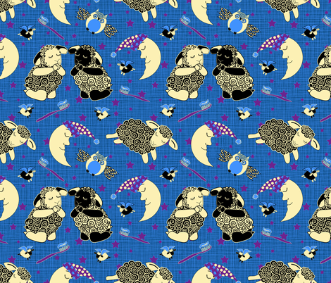 Now I Lay Me Down To Sleep fabric by shellypenko on Spoonflower - custom fabric