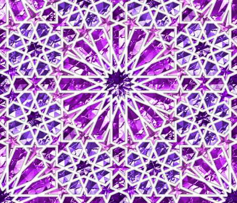 Geometric gemstones (amethyst) fabric by analinea on Spoonflower - custom fabric