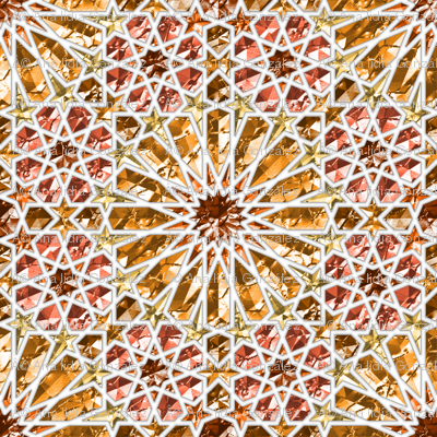 Geometric gemstones (amber)