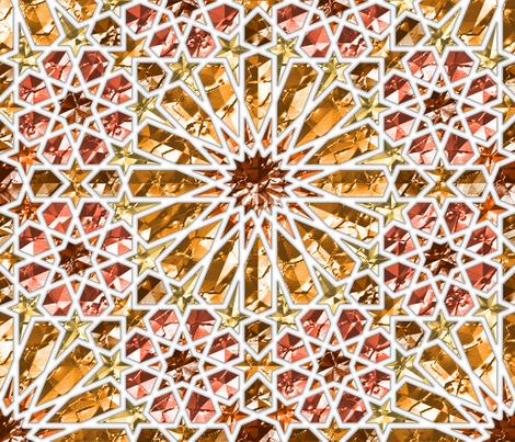 Geometric gemstones (amber) fabric by analinea on Spoonflower - custom fabric