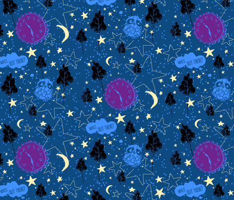 Things That Go Whoo In the Night fabric by dawn_gonzales on Spoonflower - custom fabric