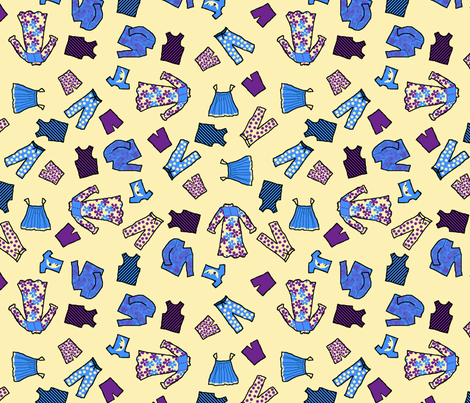 night_clothes_toss fabric by khowardquilts on Spoonflower - custom fabric