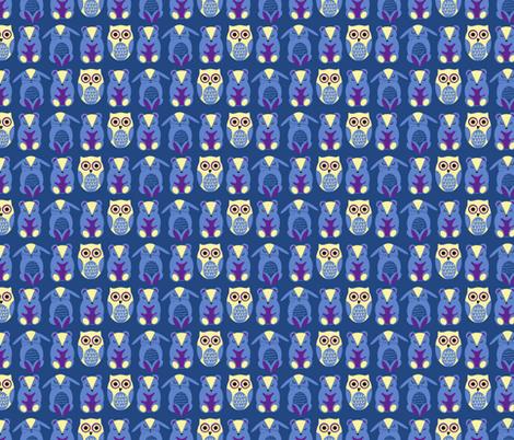 Night Owl fabric by abloom on Spoonflower - custom fabric