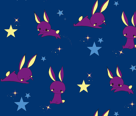 Sleepy Rabbit fabric by minette on Spoonflower - custom fabric
