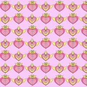 Sailor Moon and Chibi Moon Brooch -Pink-