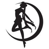 Sailor Moon Silhouette - white-