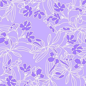 Low Volume floral in Purple