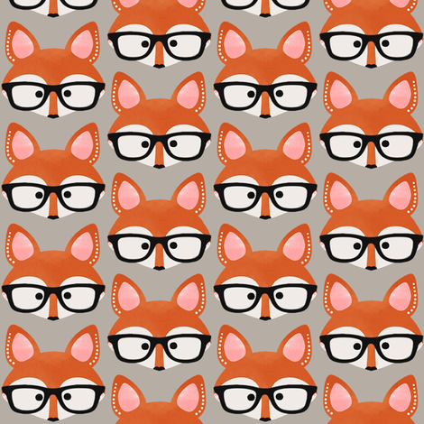 Too Cute Fox Cream fabric by natitys on Spoonflower - custom fabric