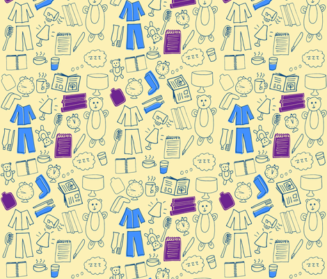 Time for Bed fabric by tasha_goddard_designs on Spoonflower - custom fabric