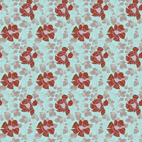 Floral Fling ~ New England ~ Medium fabric by peacoquettedesigns on Spoonflower - custom fabric