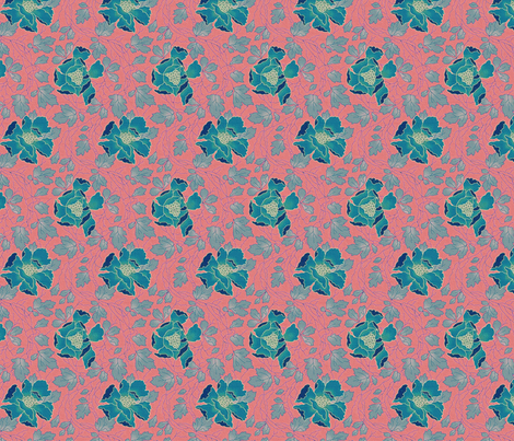 Floral Fling ~ Tennessee fabric by peacoquettedesigns on Spoonflower - custom fabric