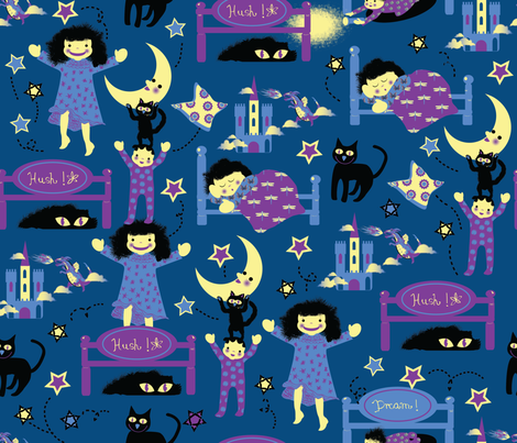 jolly_night-01 fabric by maribel on Spoonflower - custom fabric
