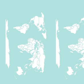Muted Turquoise Minimalist Map