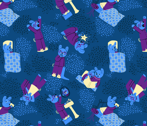 Bedtime for Bunnies fabric by emilybluestar on Spoonflower - custom fabric