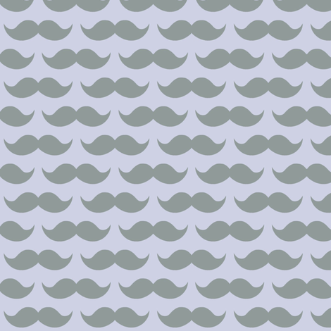 mustache on purple fabric by tiffany_r on Spoonflower - custom fabric