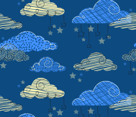Dream a Little Dream fabric by house_of_henry on Spoonflower - custom fabric
