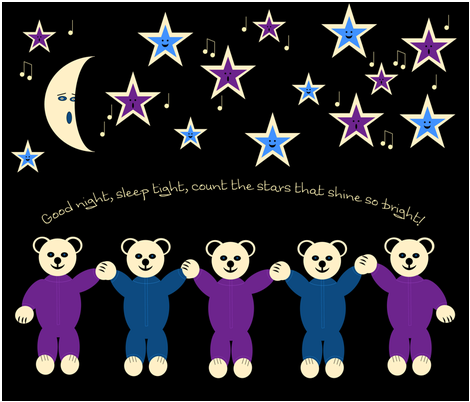 Bedtime_Bears fabric by emmie_norfolk on Spoonflower - custom fabric