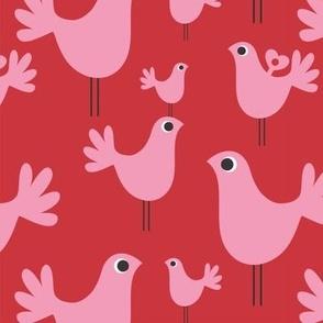 blay bird red
