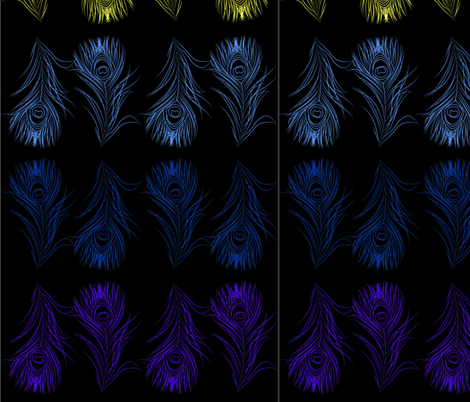 peacock night fabric by nikeolenik on Spoonflower - custom fabric