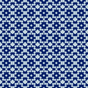 Moroccan diamonds on blue