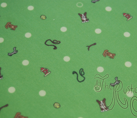 Dog park Ditsy print - green
