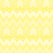 Yellow Hand drawn Chevron