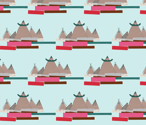 Mountainous fabric by aosborne on Spoonflower - custom fabric