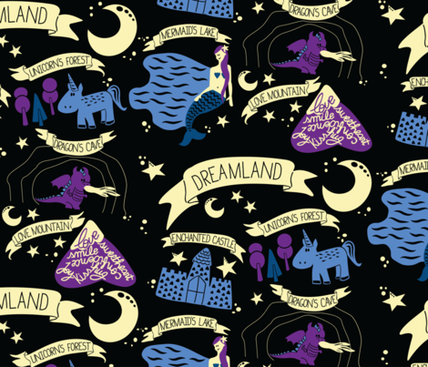 Dreamland fabric by caminavarro on Spoonflower - custom fabric