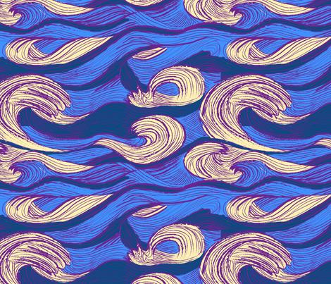 sleep waves fabric by whiteduck on Spoonflower - custom fabric