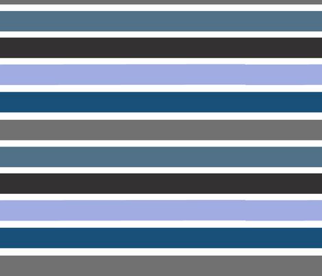 Blue Stripes fabric by natitys on Spoonflower - custom fabric