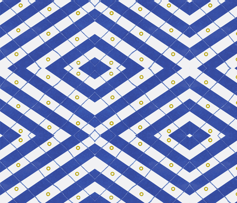 Nautical criss cross fabric by jorren on Spoonflower - custom fabric